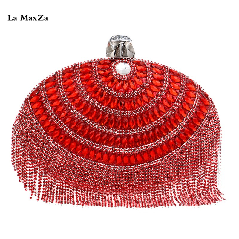 La MaxZa Top Selling Wholesale Evening Clutch Bag Ladies Crystal Pearl Beaded Ball Shaped Box Dinner Purse New Design Womens Bag цены онлайн