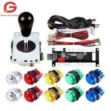купить 1 Player Arcade DIY Kit Ellipse Balltop Handle Joystick + LED Button + USB Encoder Controller For PC MAME Raspberry Pi Windows по цене 1125.23 рублей