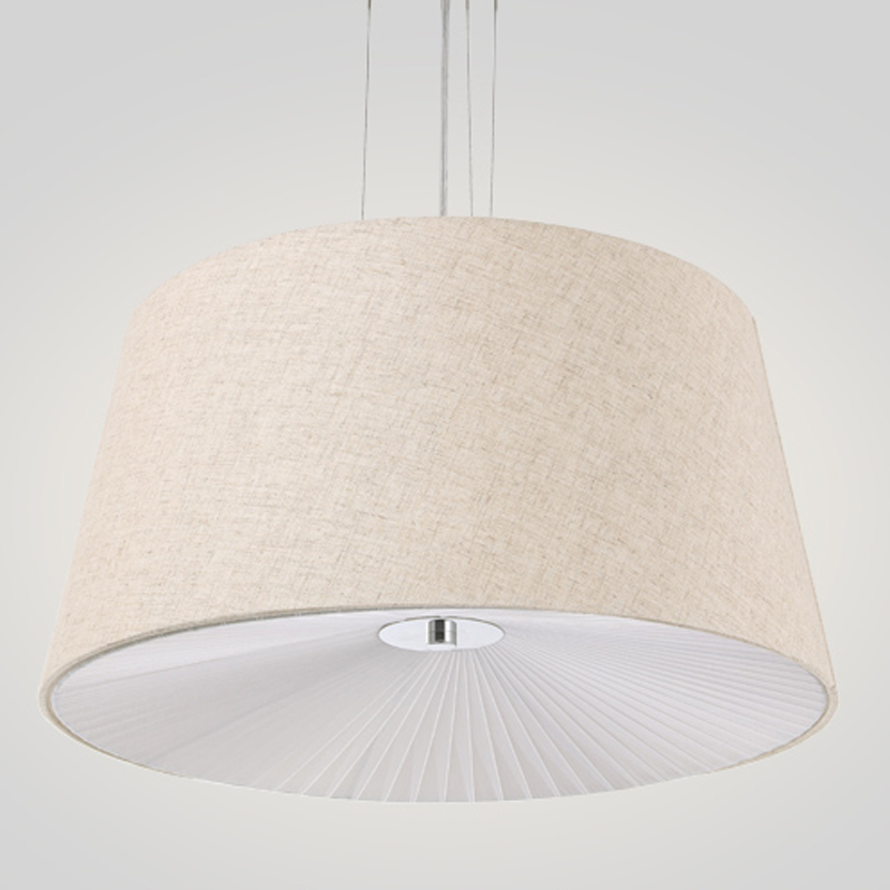 Hanging Reading Light: Fabric Cloth Cover Pendant Lights Rural Modern Suspended