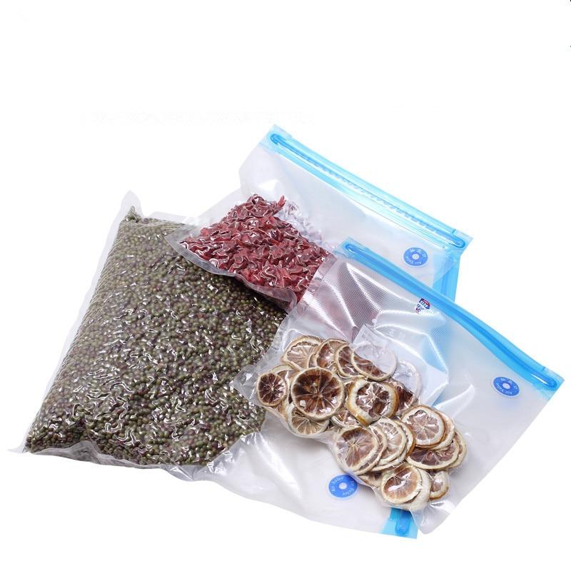 Vacuum Bag Food Air Vacuum Compressed Bag Organizer With Transparent Sealed Storage Bags Reusable Freezer Bags Kitchen Storage