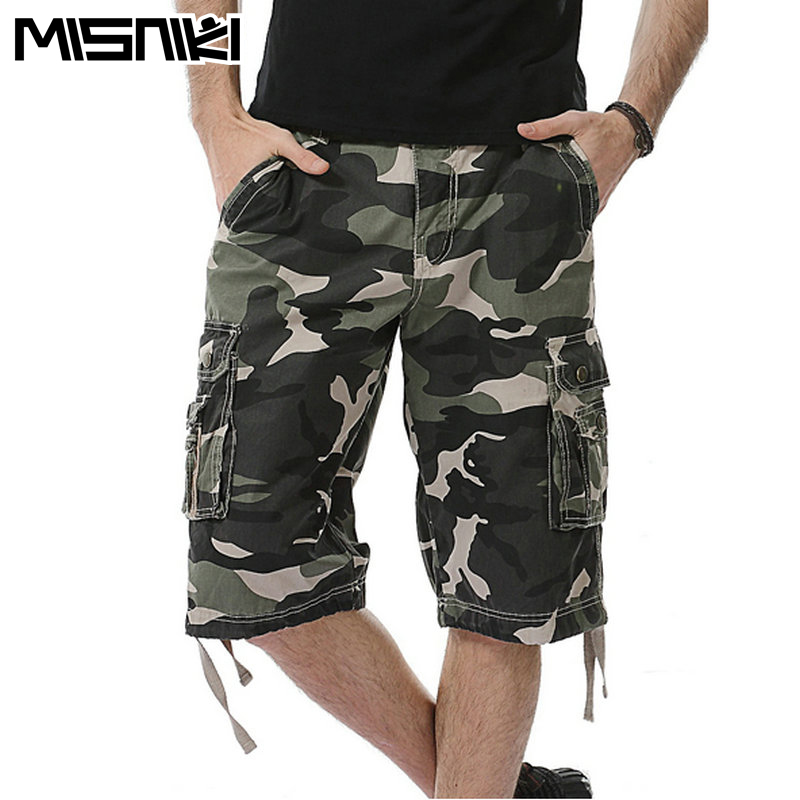 MISNIKI 2017 Summer Military Cargo Shorts Men Cotton High Quality Camouflage Shorts Male