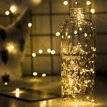 1/2/5/10 м светодиодный гирлянды рождественские гирлянды огни Батарея питание для год Свадебная вечеринка украшения