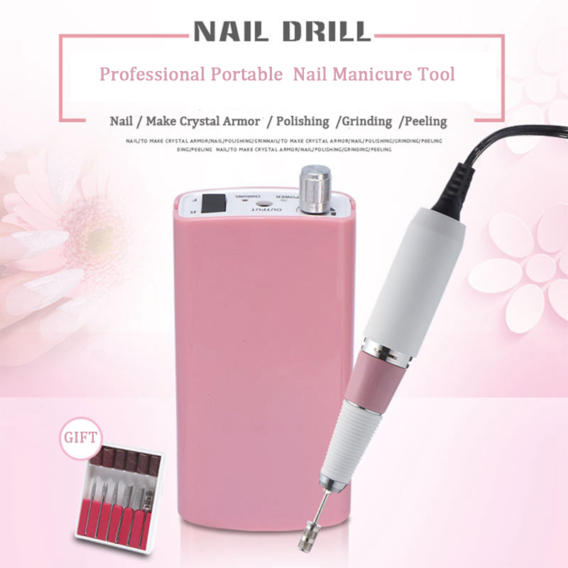 Professional Portable Nail Manicure Tool Rechargeable Nail Drill Bits Grinding Glazing Nail Machine Electric Polisher DrillProfessional Portable Nail Manicure Tool Rechargeable Nail Drill Bits Grinding Glazing Nail Machine Electric Polisher Drill