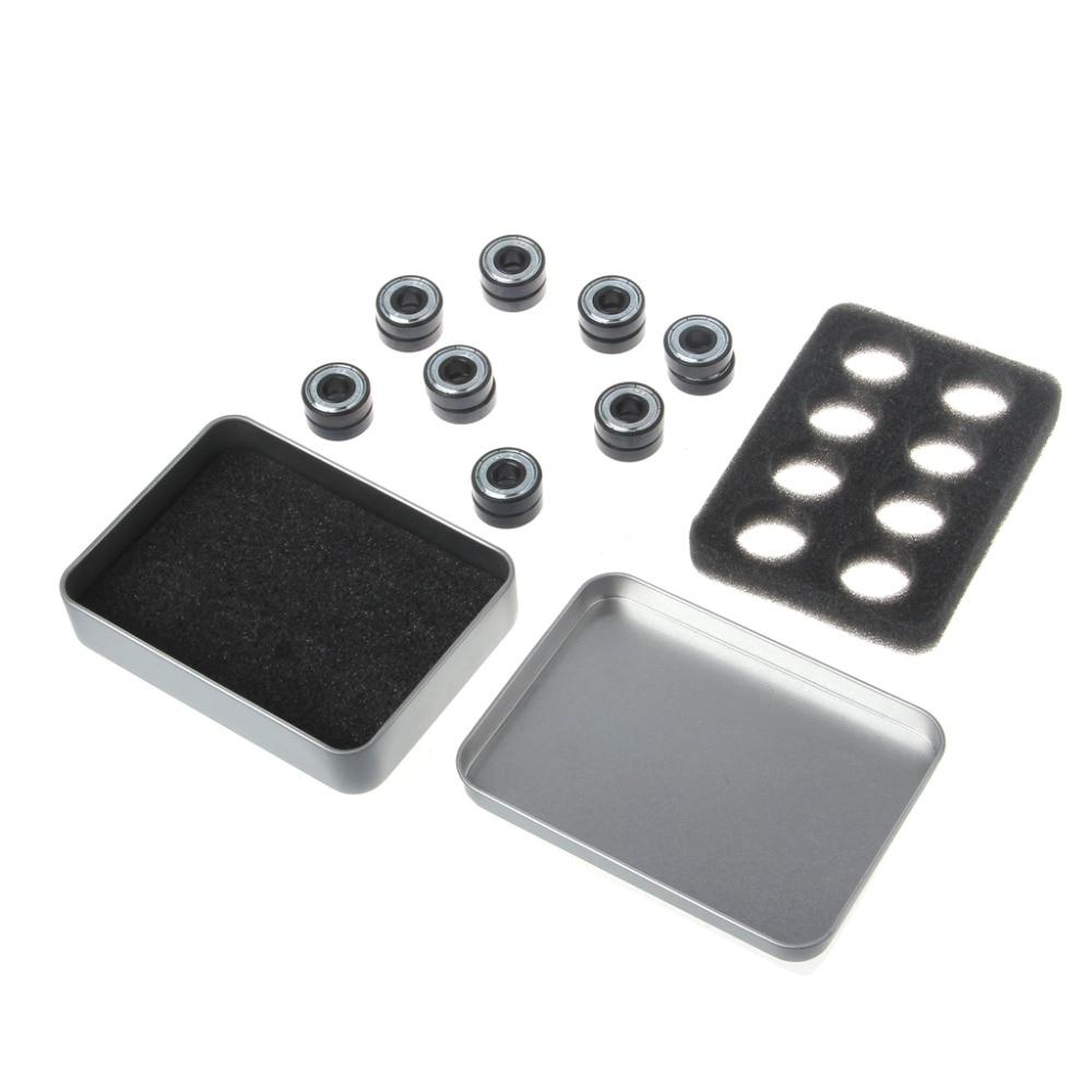 16 Pcs/1Set  Hybrid Ceramic White ZrO2 Ball Skateboard Bearing Fidget Spinner EDC Width 7mm #1A50748# резистор jantzen 5w 2 70 ohm ceramic