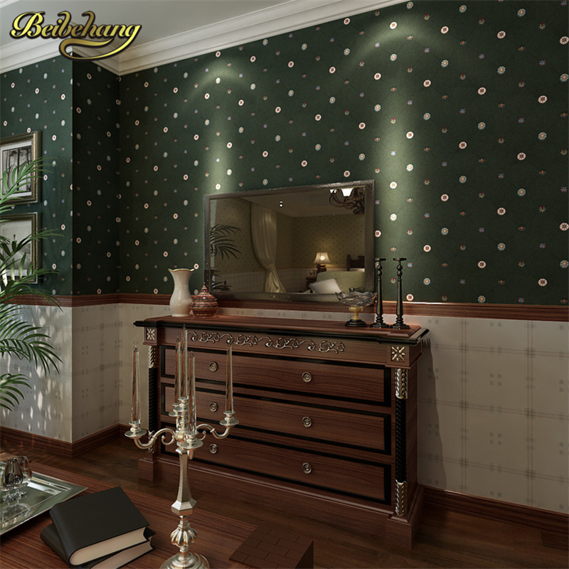 beibehang of wall paper mural non-woven American country classic plaid wallpaper background 3d wallpaper for living room bedroom american country leaf branch flower pastoral non woven wallpaper bedroom living room 3d stereoscopic background wallpaper mural