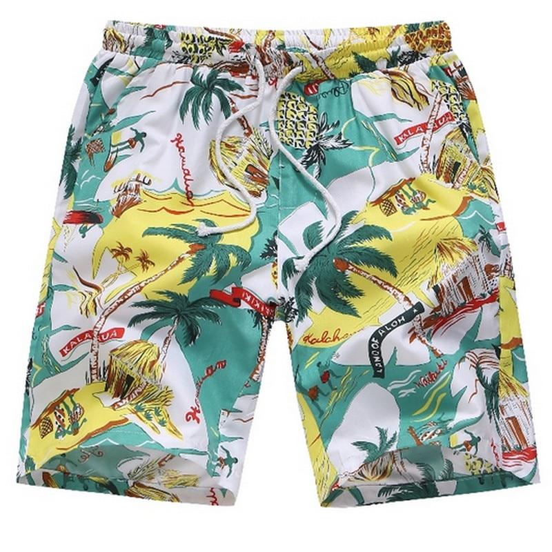 Men's Printed Swimwear Casual Hawaiian Beach Shorts Loose Breathable Short Pants Plus Size S-4xl