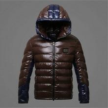 Мужская куртка Пальто 2016 новые люди утолщение теплая зима мода euramerican стиль блестящий заклинание есть крышка вниз хлопка мягкие одежды