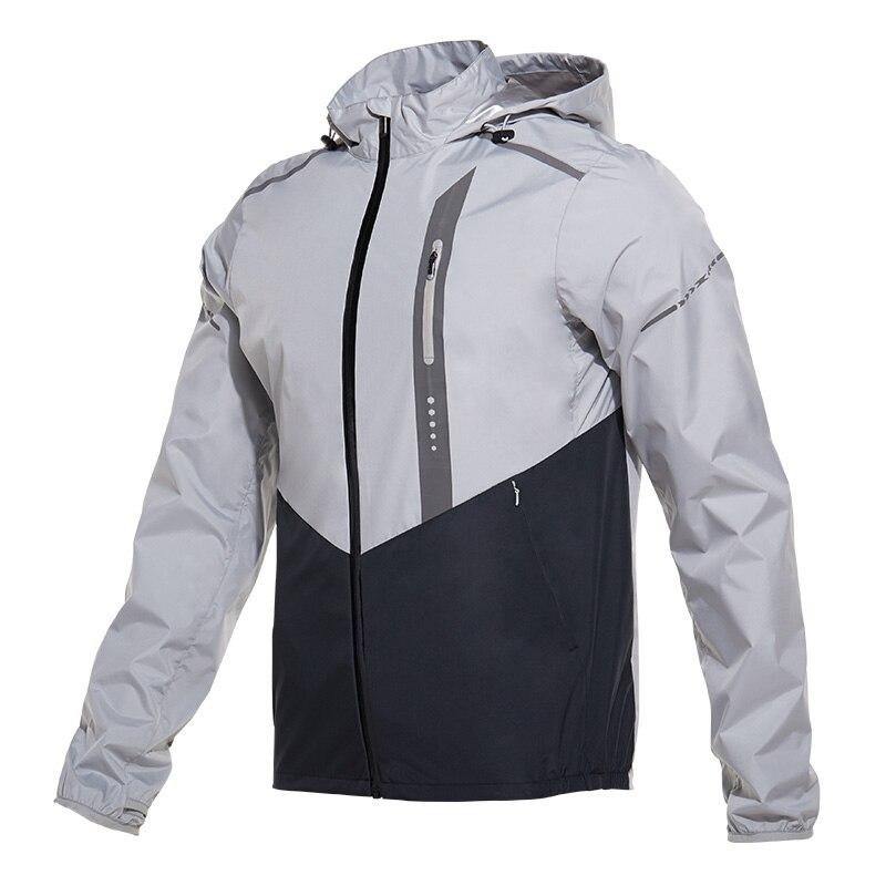 2018 Autumn Winter Sport Hoodies Men Zipper Solid Windproof Jacket Male Gym Fitness Running Hooded Hot Sweat Jacket Sportwear