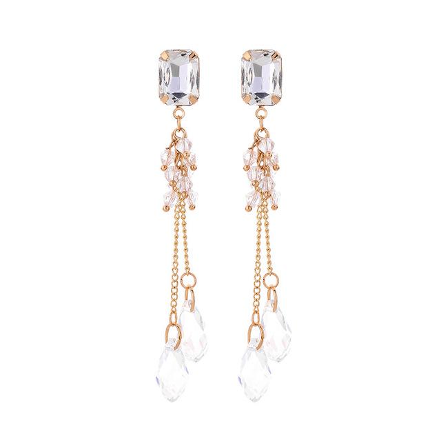 Crystal Trendy Water Drop Women Dangle  Earrings