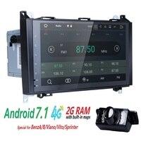 2Din Автомобильный мультимедийный плеер для Mercedes Viano Vito W639 Mercedes Sprinter W906 Benz B200 ееп B W169 W245crafter BT gps авторадио