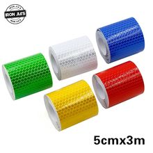 Nueva motocicleta pegatinas reflectantes 3 m x 5 cm Universal seguridad coche advertencia cinta reflectante rueda borde decoración pegatina tiras(China)