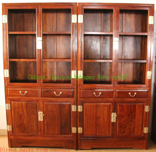 Chinese Classical Mahogany Furniture Rosewood Furniture Living Room  Furniture Bookcase Office Bookcase Chinese Style Luxurious