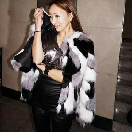 Норки Для женщин пальто 2019 зима роскошный халат Для женщин верхняя одежда пальто из искусственного меха с длинным рукавом искусственная норка лиса меховая куртка пальто M498