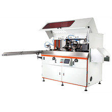 automatic glass or plastic bottle silk screen printing machine, cylindrical screen printing machine, round screen printing ekra x4 printing machine 380mm squeegee
