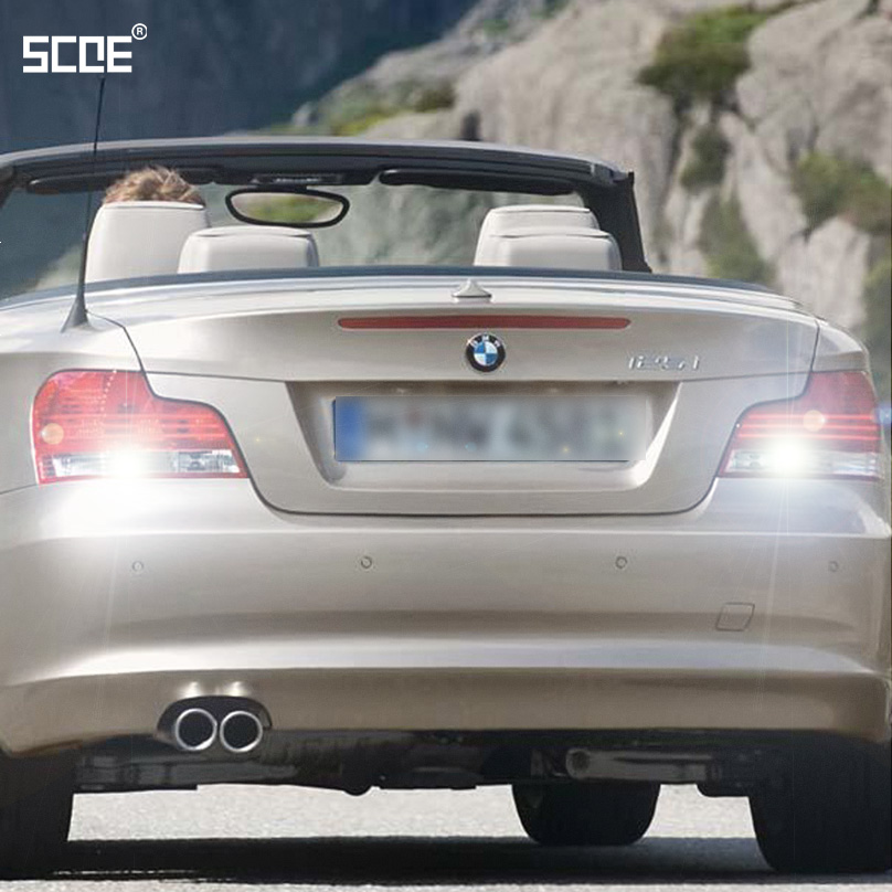 For BMW 1 (E88)Convertible 1 (E82)Coupe 3 (E91)Touring SCOE 2015 2X22SMD Super Bright Back Up Light Reverse Light Car Styling image