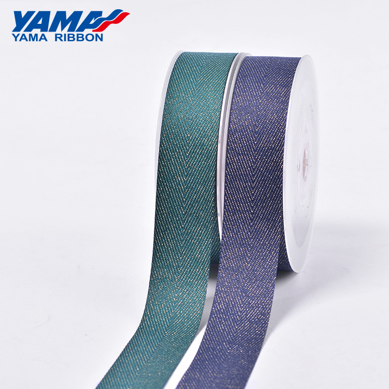 "YAMA Gold Purl Twill Ribbon 9mm 16mm 19mm 25mm 38mm 50yards/roll 3/8"" 5/8"" 3/4"" 1"" 1.5"" inch for Diy Wedding Decoration Ribbons"