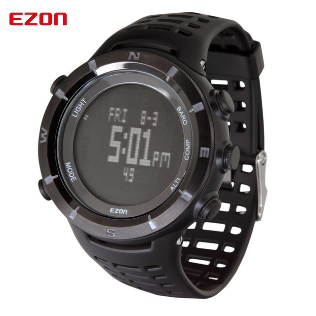 When EZON running watch pedometer distance speed calories GMT two outdoor sports men and women watch