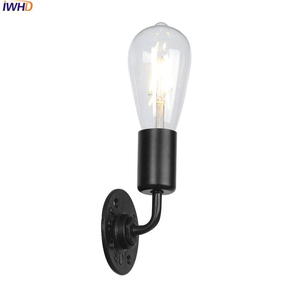 IWHD LED Wall Lamp Iron Simple Wandlamp Vintage Industrial Mirror Light Fixtures For Home Lighting Applique Murale Luminaire title=