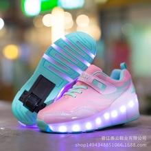 Оптовая Продажа одно колесо переключатель светодиодный свет детская роликовых коньках обувь свет Материал шкив обувь с колесами