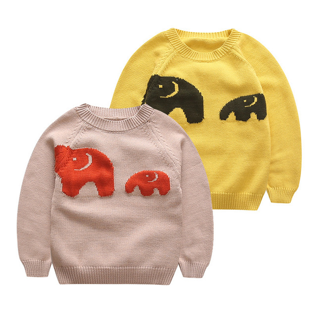 9ef4085df318 2017 spring and autumn new children s cartoon elephant sweater baby ...