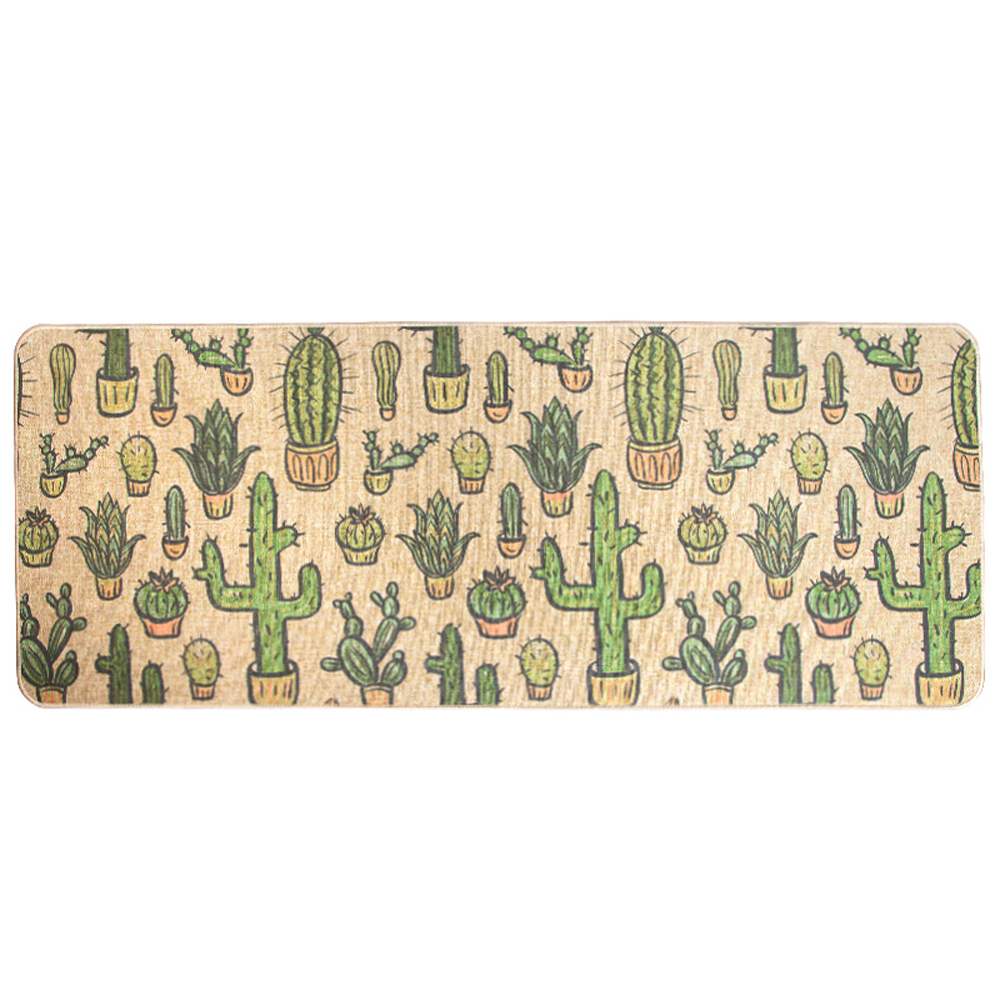 Natural Rubber Back Cactus Kitchen Rug Sets Mat Oil Proof Waterproof ...