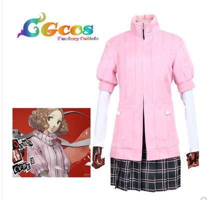 Persona 5 Haru Okumura Cosplay Costumes Outfit Women Girls Halloween Party Dress White Shirts Socks 4pcs Clothing Set