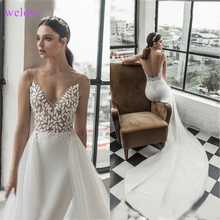 Vestige Mermaid Wedding Dresses Sleeveless Bride Dress