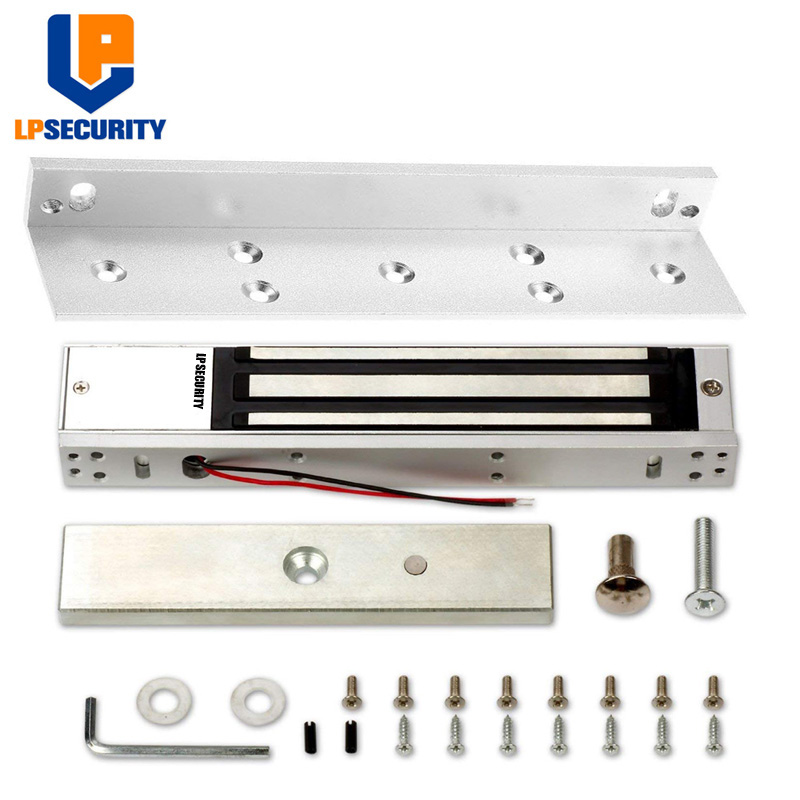 LPSECURITY With L Bracket 280KG Magnetic Lock 600LBS For Access Control System