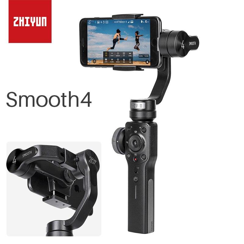 ZHIYUN Lisse 4 Smartphone 3 Axes De Poche Cardan Stabilisateur Vidéo Pour iPhone X 8 7 Samsung Gopro PK DJI Osmo 2