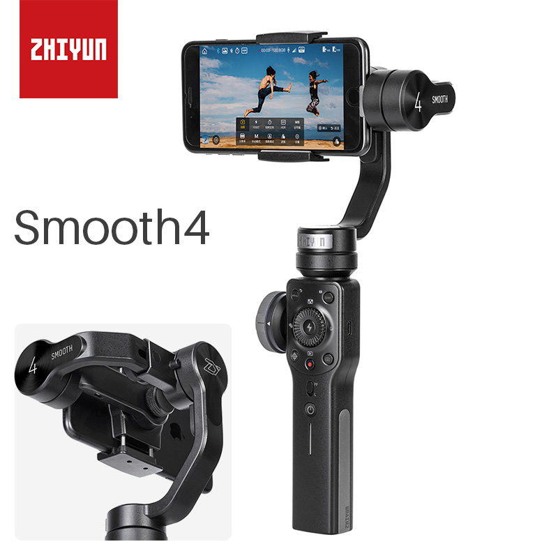 ZHIYUN Smooth 4 Smartphone 3 Axis Handheld Gimbal Video Stabilizer For iPhone X 8 7 Samsung Gopro PK DJI Osmo 2