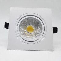 Free Shipping 12W 15W Square Model Dimmable COB LED Down Light Spot Light Led Bulbs 90