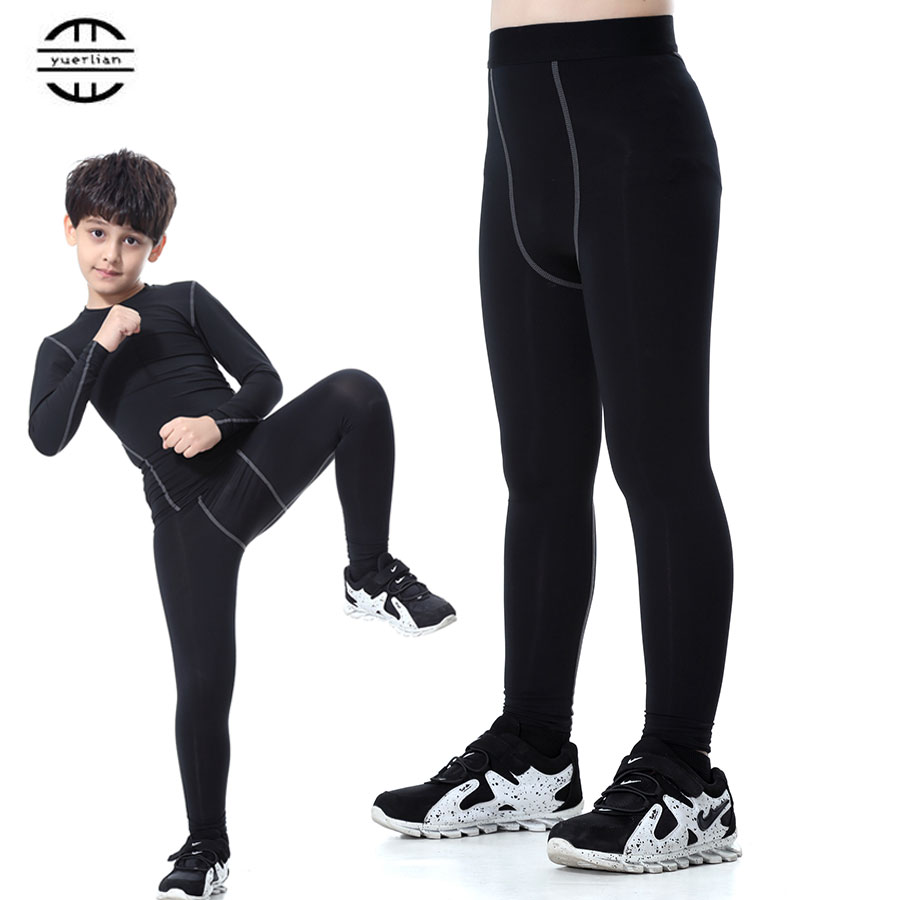 Yuerlian Gym Leggings Sports Tight Fitness Kids Football ...
