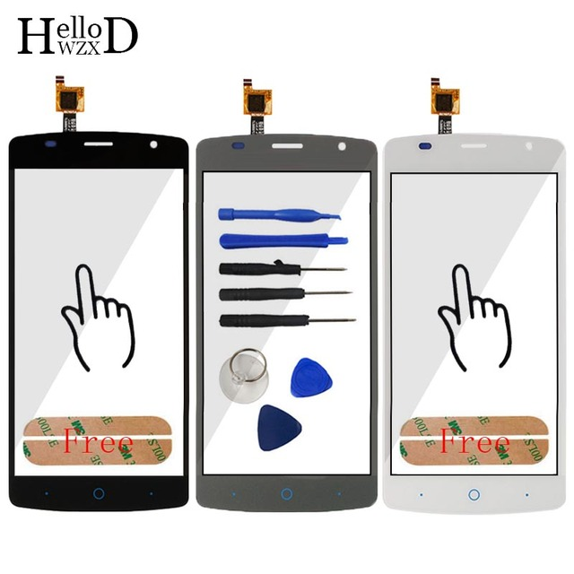 5.0'' Touch Glass Front High For ZTE Blade L5 Plus Touch Screen Touch Digitizer Panel Lens Sensor Flex Cable Tools Free Adhesive