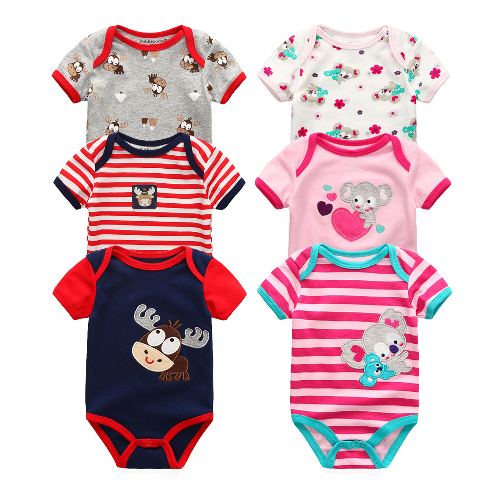 1326dac4537e 3PCS Baby Bodysuits Cotton Baby Girls Boy Clothing Short Sleeves O ...