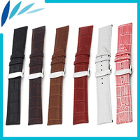 Genuine Leather Watch Band 12mm 14mm 16mm 18mm 20mm 22mm 24mm For Baume Mercier Strap Wrist