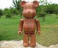 400% Wood Bearbrick Hecho w/Palo de Rosa Roja (CALIDAD GARANTIZADA!!) de madera Muñecas del oso de peluche