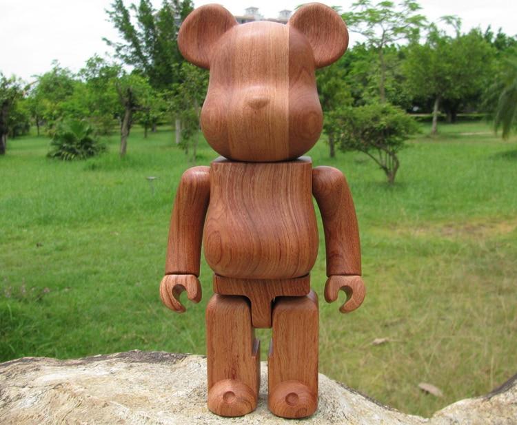400% Wood Bearbrick Made w/ Red RoseWood(QUALITY GUARANTEED!!) wood teddy bear Dolls 11inch bearbrick 400