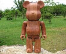 400% дерево Bearbrick сделал W/Красный палисандр (качество гарантировано!) дерево мишки Куклы