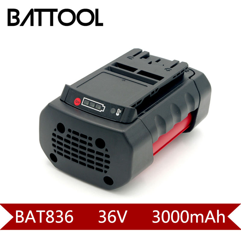 1X 3000mAh 36V BAT836 Li-ion Rechargeable Battery for Bosch 2 607 336 108 2 607 336 108 BAT810 BAT836 BAT840 D-70771 3pcs 3000mah rechargeable lithium ion replacement for bosch 36v power tool battery packs bat810 bat836 bat840 d 70771 gsb 36v li