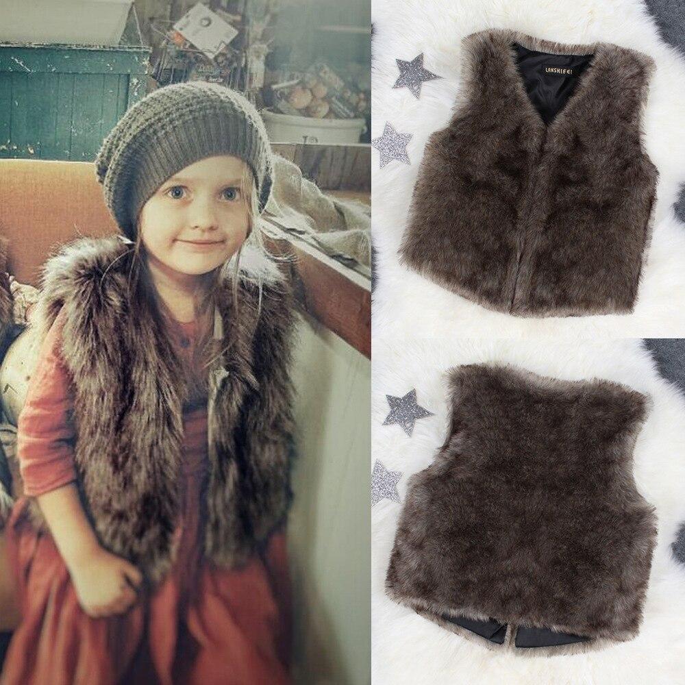 baby girl fur vest girls vest girls fur vest kids vest in Vests from Mother Kids