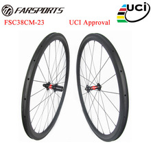 700C road bicycle wheelsets 38mm deep 23mm 25mm wide clincher rims built with DT 240 hub 36 ratchets upgraded FSC38CM-23U