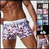 AUSTINBEM New Pocket Floral Men Swimwear Shorts Sexy Sunga Masculina Men S Swimming Trunks Men Briefs