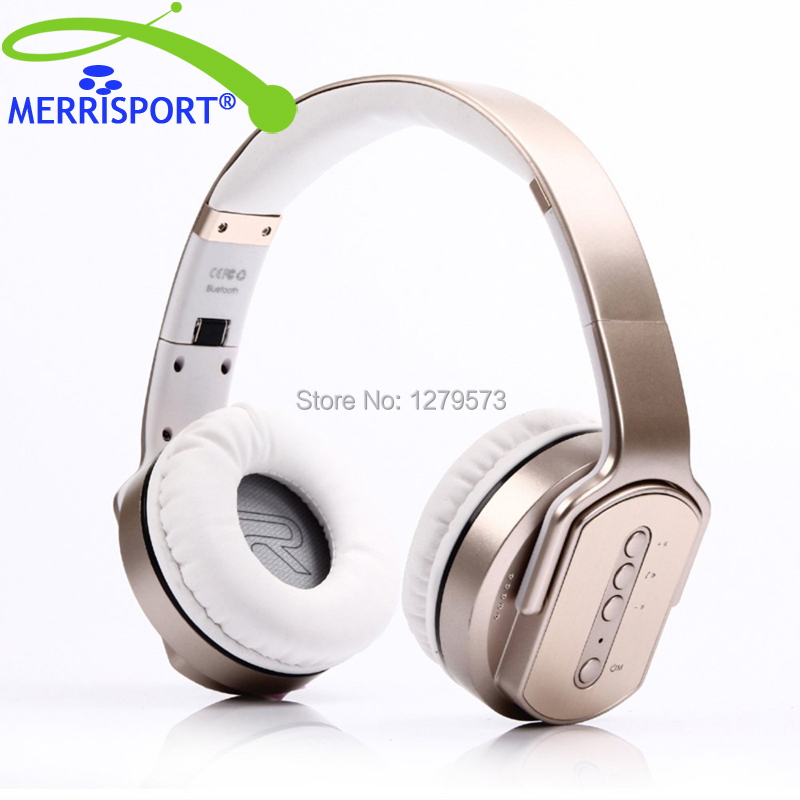 MERRISPORT Bluetooth Over Ear Wireless Headphones Bluetooth Headsets Stereo Headsets With Mic for Tablet iPhones Samsung Phones merrisport wireless bluetooth foldable over ear headphones headsets with mic for for cellphones ipad iphone laptop rose gold