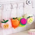 1x Color fruit shape bath ball bathroom bath sponge rubbing towel lovely modelling shower bath flowers/bath brush Free shipping