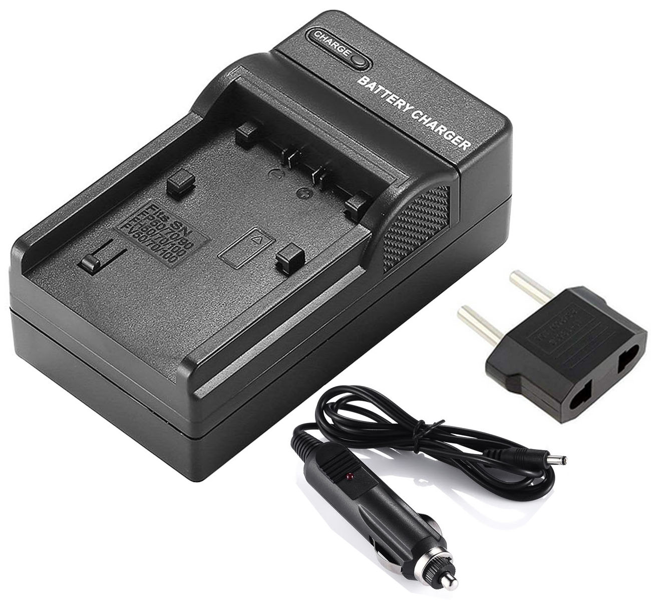 LCD USB Travel Battery Charger for Sony DCR-HC45E DCR-HC48E Handycam Camcorder DCR-HC47E DCR-HC46E
