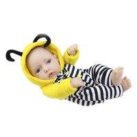 Hot Sale Cute 5 style 28CM Full Vinyl Real Looking Girl Mini Baby Dolls Lifelike Reborn Doll Christmas New Year Gift For Kids