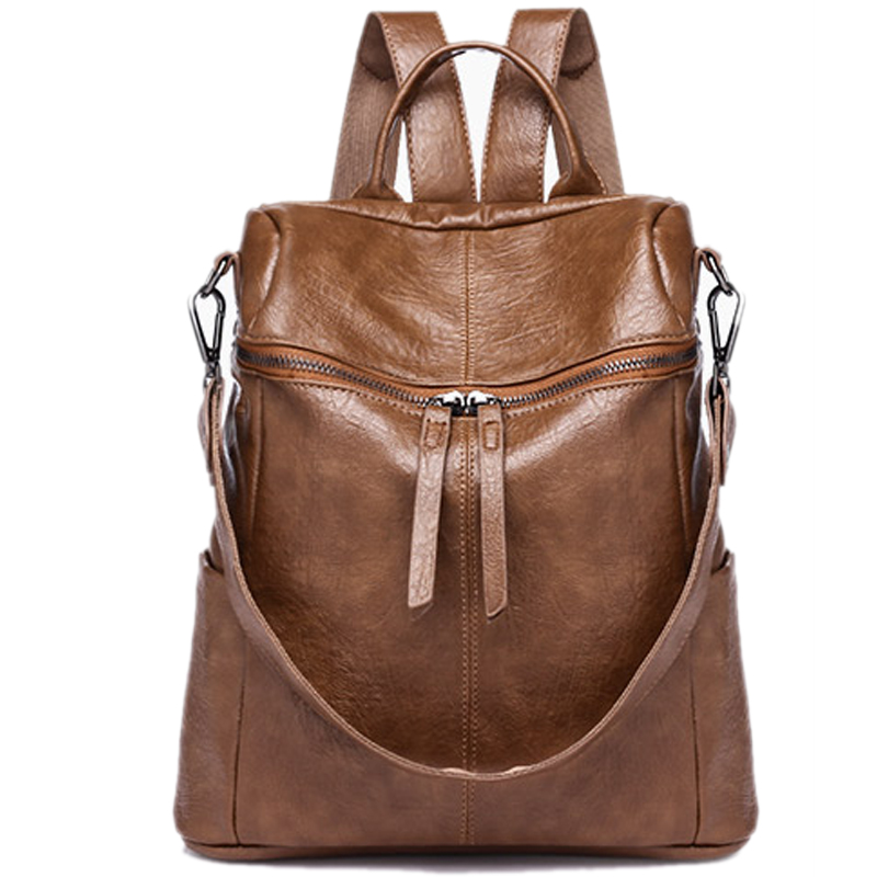 New Fashion Backpack Women Leather School Bag for Grils Ladies Shoulder Handbag Female Travel Weekender Daypack Casual Rucksack