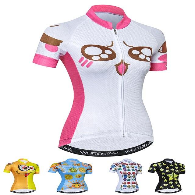 db2d484af Weimostar Girl Jersey Cycling Black bike shirt women summer quick-dry cycling  jersey mtb wear short sleeve