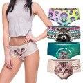 Sexy Panties 2018 Wholesale Pink 3d Print Cat Cotton Underwear Women panties Seamless Briefs ropa interior mujer lingerie