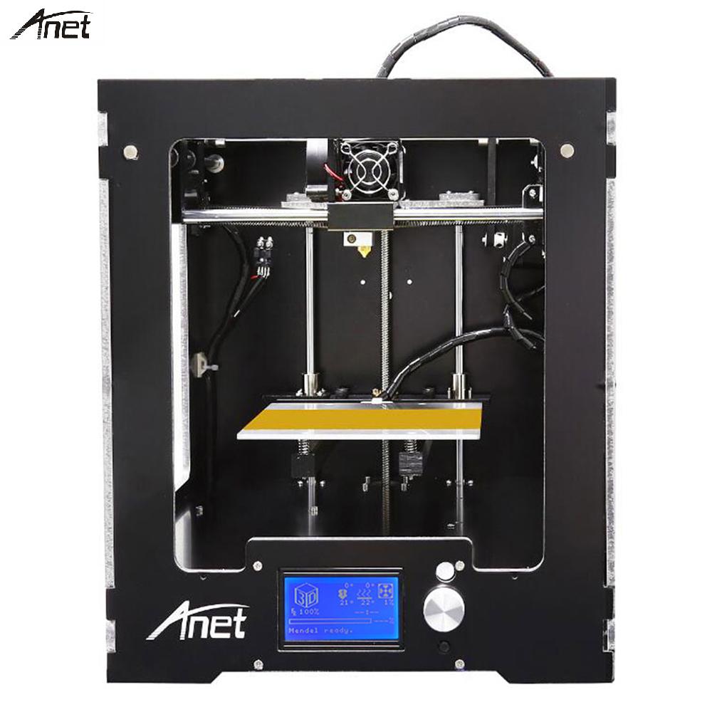 Anet A3 Original assemblé imprimante 3D plein aluminium cadre en plastique imprimante 3d Support impression hors ligne avec grand écran LCD